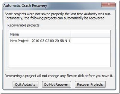 CrashRecovery